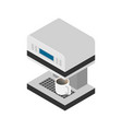 flat coffee machine icon isometric vector image