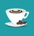 flat cup of cappuccino drink concept vector image vector image