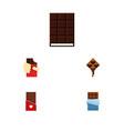 flat icon chocolate set of chocolate dessert vector image vector image