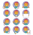 Flat people icons with business characters vector image vector image