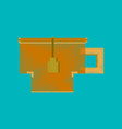 flat shading style icon pixel cup of tea vector image vector image