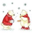 Funny polar bears vector image vector image