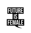 future is female in black speech callout cloud vector image