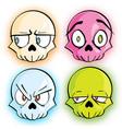 glow skulls vector image vector image
