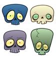 Goofy skulls vector image