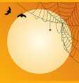 halloween background template with empty place vector image vector image