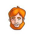 head laughing man bearded redhead white teeth vector image