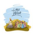 holy week biblical scene vector image vector image