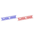 illegal usage stamp seals with unclean texture and vector image vector image