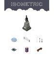 isometric urban set of sculpture street lanterns vector image vector image