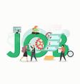 job concept flat design hr vector image