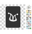 joker gaming card icon with bonus vector image