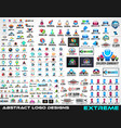 large collection of logos for brand design vector image