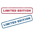 Limited Edition Rubber Stamps vector image vector image
