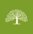 logo tree or label ecology nature vector image