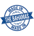 made in The Bahamas blue round vintage stamp vector image vector image
