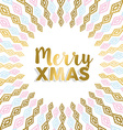 Merry Xmas gold mandala design in light colors vector image vector image