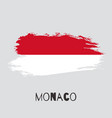 monaco watercolor national country flag icon vector image