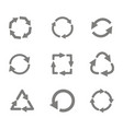 monochrome set with recycle icon vector image
