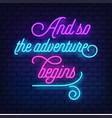 neon text vector image