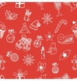 New Year doodles seamless pattern vector image