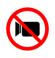 No video camera sign icon on white background vector image vector image