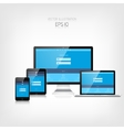 Responsive web design Adaptive user interface vector image vector image