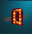 retro style letter q vector image vector image