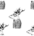 Seamless pattern with dressed up deer vector image vector image