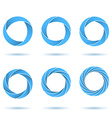 Segmented circles abstract figures vector image