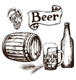 set of beer items vector image