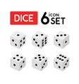 set of dice with numbers from one to six vector image vector image