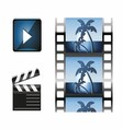 Set of Movie icon design elements and cinema icons vector image vector image