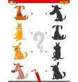 shadow game with funny cartoon dogs vector image vector image