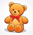 simple cute teddy bear vector image