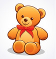simple cute teddy bear vector image vector image