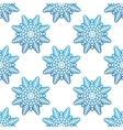Snowflakes winter seamless pattern background vector image vector image