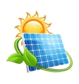 Solar panel and sun icon vector image