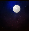 space background with moon and stars vector image vector image