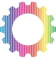 Spectrum gear vector image vector image