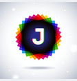 Spectrum logo icon Letter J vector image