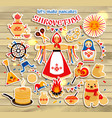 sticker set on the theme of the russian vector image vector image