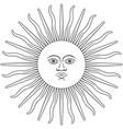 sun inca vector image vector image