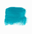 Turquoise acrylic paint banner vector image vector image