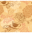 Valentines Day background - seamless pattern vector image