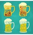 Vintage calligraphic grunge beer design vector image vector image