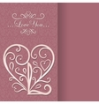 Vintage Card with floral heart I love you vector image