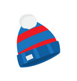 warm hat winter accessory for extreme ski sport vector image vector image