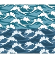 Waves seamless pattern vector image vector image