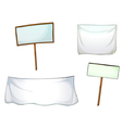 White boards and cloths vector image